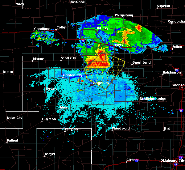 Radar Image for Severe Thunderstorms near Jetmore, KS at 7/5/2016 11:46 PM CDT