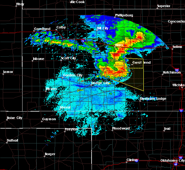 Radar Image for Severe Thunderstorms near Byers, KS at 7/6/2016 12:26 AM CDT