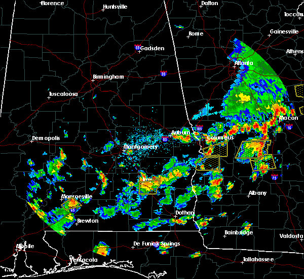 Radar Image for Severe Thunderstorms near Columbus, GA at 7/6/2016 3:01 PM EDT