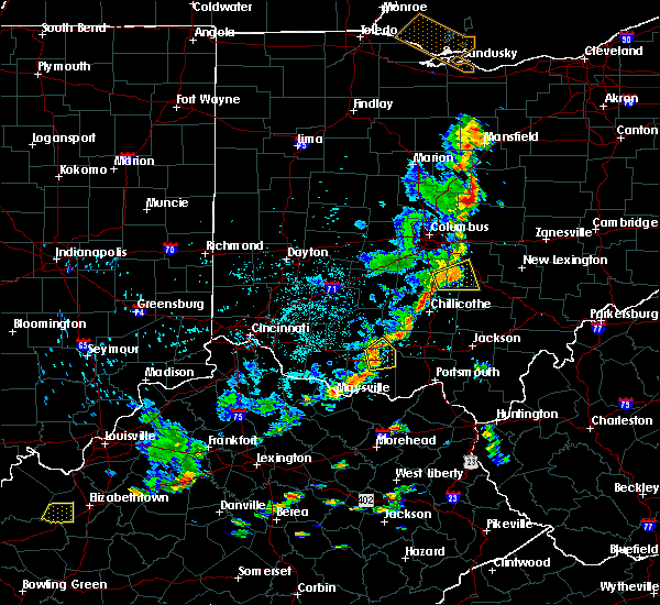 Radar Image for Severe Thunderstorms near Peebles, OH at 7/6/2016 3:14 PM EDT