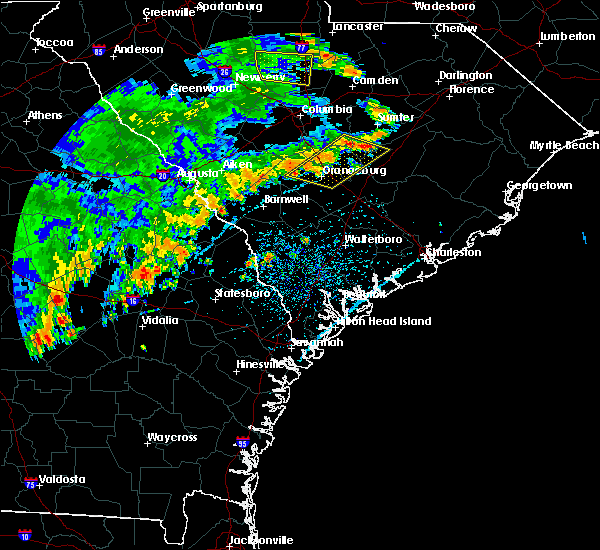 Radar Image for Severe Thunderstorms near Barnwell, SC at 7/6/2016 4:26 PM EDT