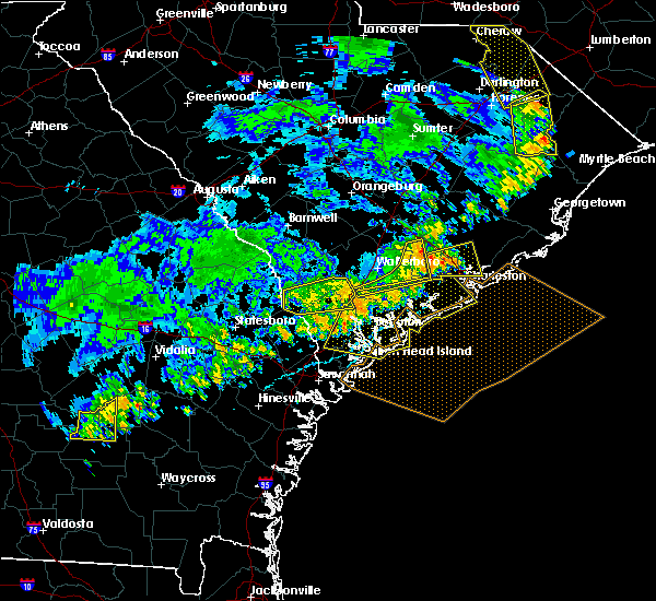 Radar Image for Severe Thunderstorms near Lincolnville, SC at 7/6/2016 6:10 PM EDT