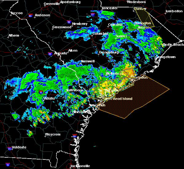 Radar Image for Severe Thunderstorms near Edisto Beach, SC at 7/6/2016 6:36 PM EDT