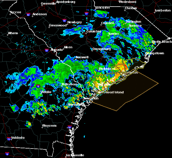 Radar Image for Severe Thunderstorms near North Charleston, SC at 7/6/2016 6:39 PM EDT