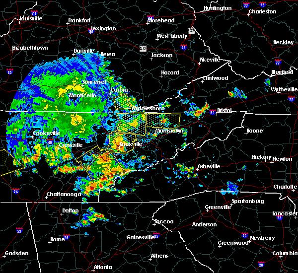 Radar Image for Severe Thunderstorms near Rogersville, TN at 7/6/2016 6:52 PM EDT