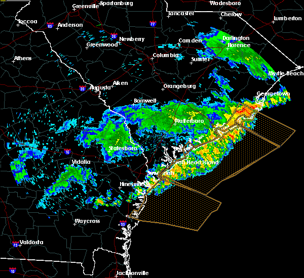 Radar Image for Severe Thunderstorms near North Charleston, SC at 7/6/2016 7:13 PM EDT