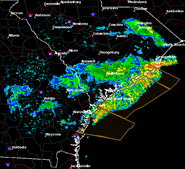 Radar Image for Severe Thunderstorms near North Charleston, SC at 7/6/2016 7:27 PM EDT