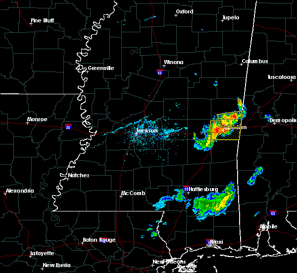 Radar Image for Severe Thunderstorms near Lauderdale, MS at 7/6/2016 6:36 PM CDT