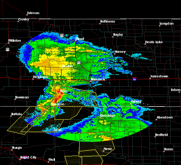 Radar Image for Severe Thunderstorms near McIntosh, SD at 7/6/2016 6:41 PM MDT