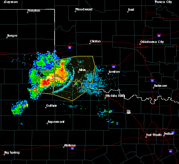 Radar Image for Severe Thunderstorms near Childress, TX at 7/6/2016 9:07 PM CDT