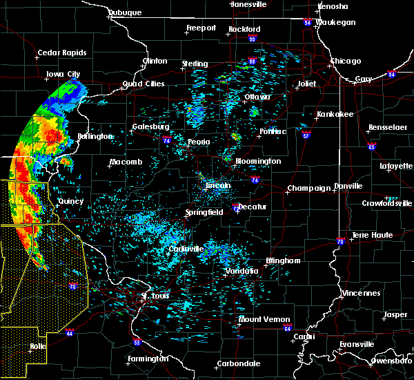 Radar Image for Severe Thunderstorms near Quincy, IL at 7/7/2016 7:35 AM CDT