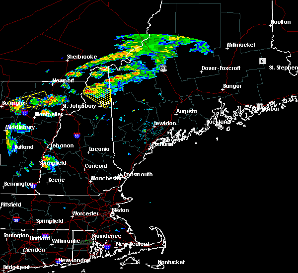 Radar Image for Severe Thunderstorms near Berlin, NH at 7/7/2016 2:47 PM EDT