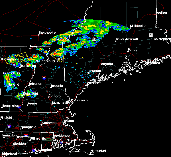 Radar Image for Severe Thunderstorms near Berlin, NH at 7/7/2016 3:02 PM EDT