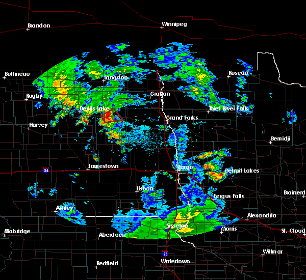 Radar Image for Severe Thunderstorms near Michigan City, ND at 7/7/2016 2:15 PM CDT