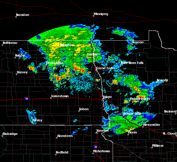 Radar Image for Severe Thunderstorms near Pine Point, MN at 7/7/2016 3:48 PM CDT