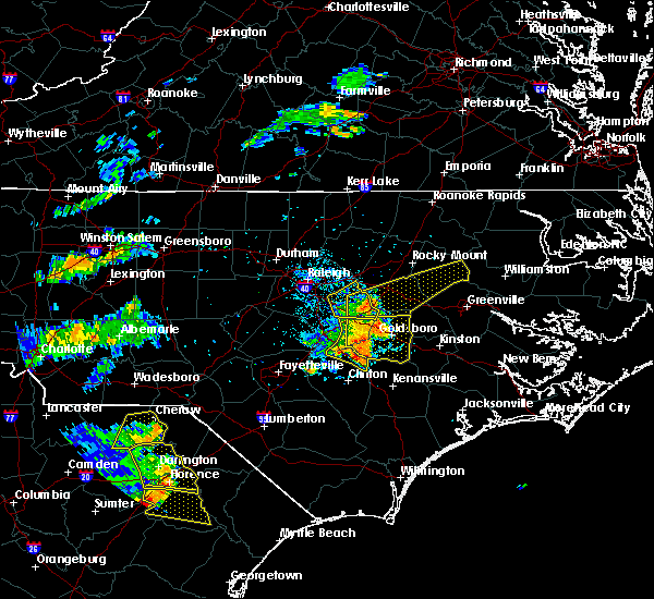 Radar Image for Severe Thunderstorms near Wilson, NC at 7/7/2016 5:23 PM EDT