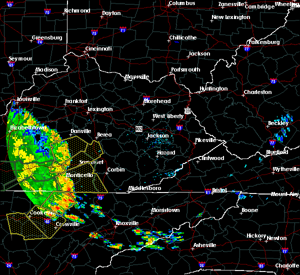 Radar Image for Severe Thunderstorms near Science Hill, KY at 7/7/2016 5:32 PM EDT