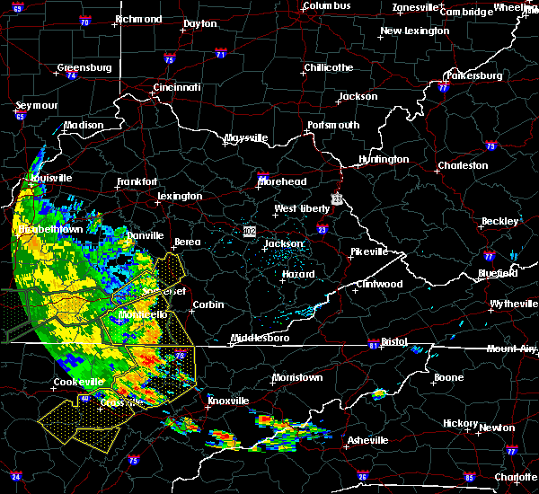 Radar Image for Severe Thunderstorms near Science Hill, KY at 7/7/2016 5:55 PM EDT
