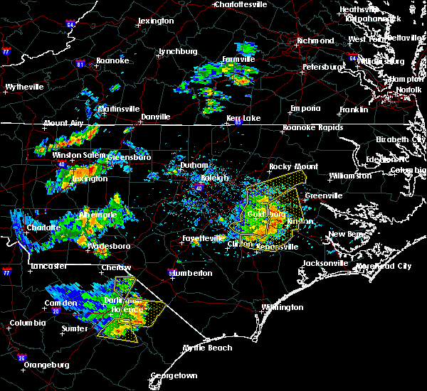 Radar Image for Severe Thunderstorms near Wilson, NC at 7/7/2016 5:54 PM EDT