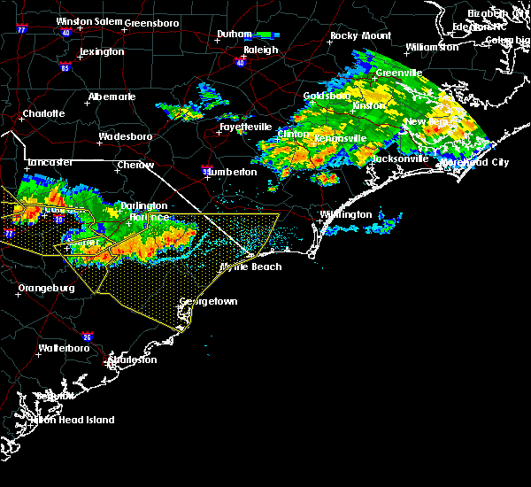Radar Image for Severe Thunderstorms near Myrtle Beach, SC at 7/7/2016 10:03 PM EDT