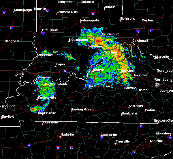 Radar Image for Severe Thunderstorms near Frankfort, KY at 7/8/2016 11:55 AM EDT