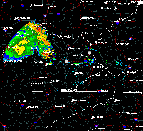 Radar Image for Severe Thunderstorms near Winchester, KY at 7/8/2016 12:22 PM EDT
