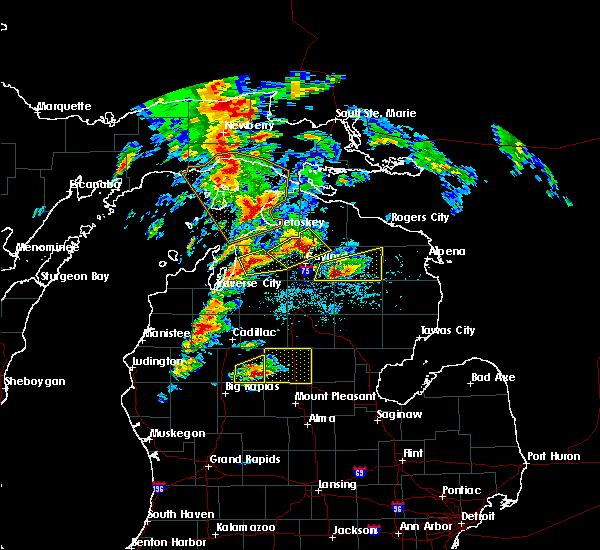 Radar Image for Severe Thunderstorms near South Boardman, MI at 7/8/2016 12:57 PM EDT