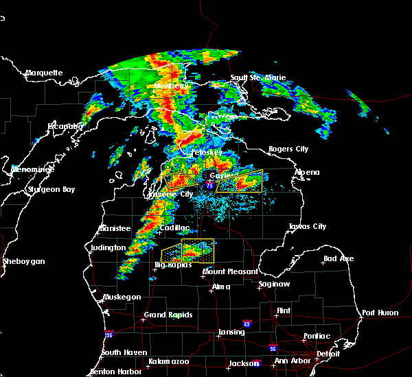 Radar Image for Severe Thunderstorms near South Boardman, MI at 7/8/2016 1:08 PM EDT