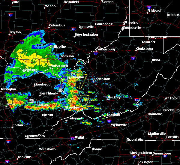 Radar Image for Severe Thunderstorms near Huntington, WV at 7/8/2016 2:46 PM EDT