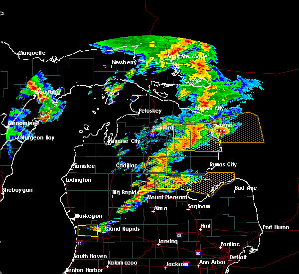 Radar Image for Severe Thunderstorms near Au Sable, MI at 7/8/2016 2:49 PM EDT
