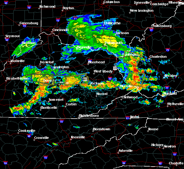 Radar Image for Severe Thunderstorms near Lancaster, KY at 7/8/2016 2:55 PM EDT