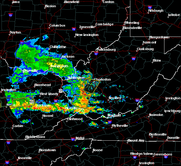 Radar Image for Severe Thunderstorms near Justice, WV at 7/8/2016 3:04 PM EDT