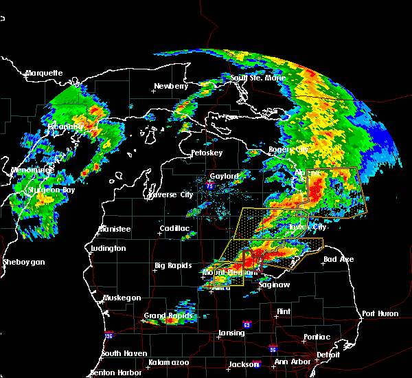 Radar Image for Severe Thunderstorms near Au Sable, MI at 7/8/2016 3:38 PM EDT
