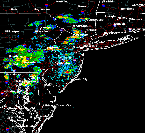 Radar Image for Severe Thunderstorms near Dover, NJ at 7/8/2016 3:51 PM EDT