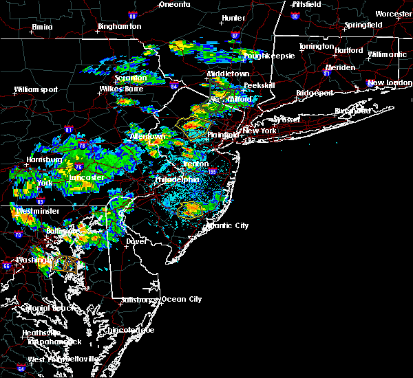 Radar Image for Severe Thunderstorms near Kenvil, NJ at 7/8/2016 4:09 PM EDT