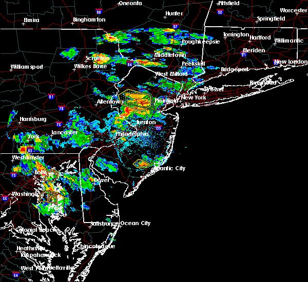 Radar Image for Severe Thunderstorms near Califon, NJ at 7/8/2016 5:00 PM EDT