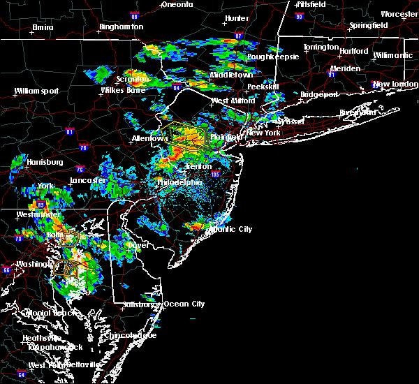 Radar Image for Severe Thunderstorms near Califon, NJ at 7/8/2016 5:13 PM EDT