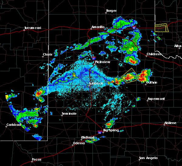 Radar Image for Severe Thunderstorms near Roaring Springs, TX at 7/8/2016 4:59 PM CDT