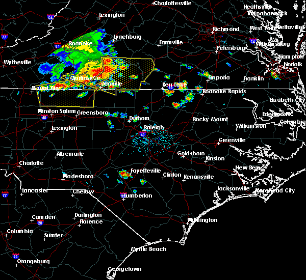 Radar Image for Severe Thunderstorms near Hollister, NC at 7/8/2016 6:12 PM EDT