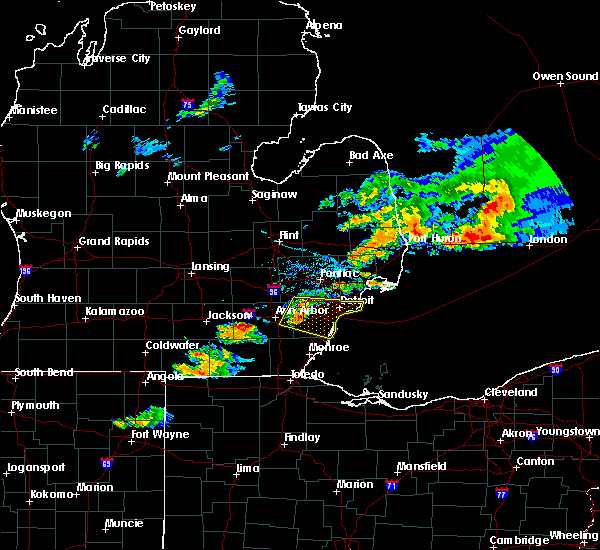 Radar Image for Severe Thunderstorms near Dundee, MI at 7/8/2016 7:14 PM EDT