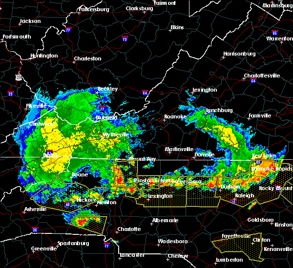 Radar Image for Severe Thunderstorms near Winston-Salem, NC at 7/8/2016 7:48 PM EDT
