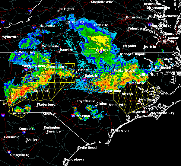 Radar Image for Severe Thunderstorms near Wilson, NC at 7/8/2016 8:56 PM EDT