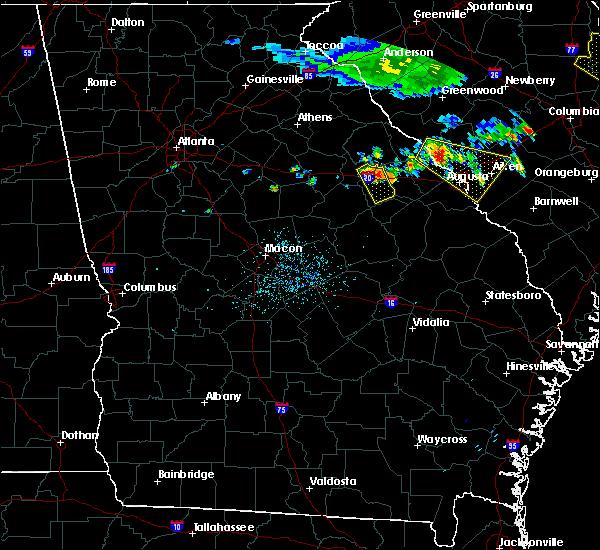 Radar Image for Severe Thunderstorms near Warrenton, GA at 7/8/2016 11:19 PM EDT