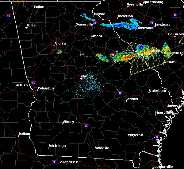 Radar Image for Severe Thunderstorms near Warrenton, GA at 7/8/2016 11:58 PM EDT