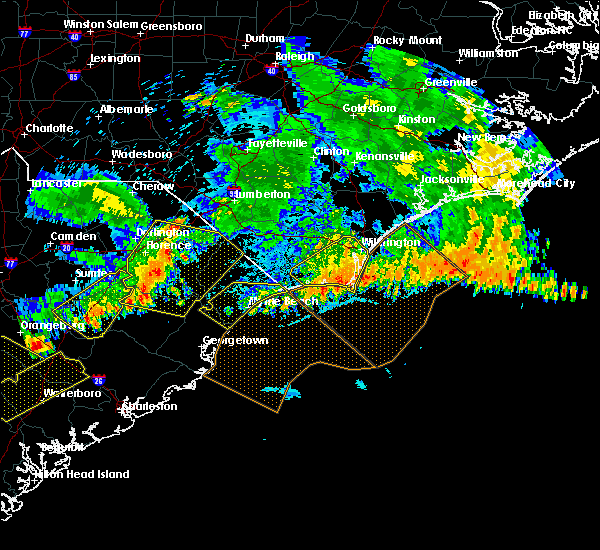 Radar Image for Severe Thunderstorms near Myrtle Beach, SC at 7/9/2016 12:59 AM EDT