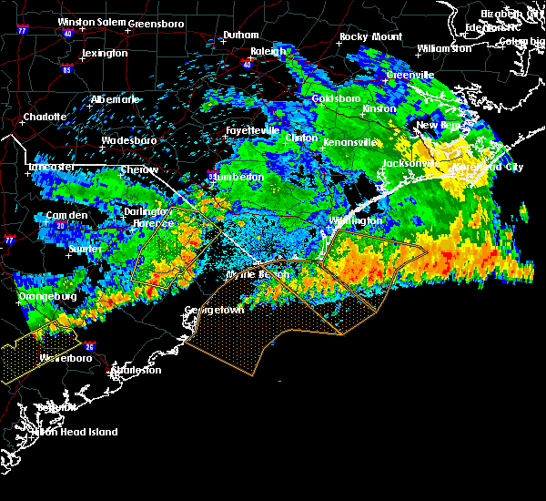 Radar Image for Severe Thunderstorms near Murrells Inlet, SC at 7/9/2016 1:30 AM EDT