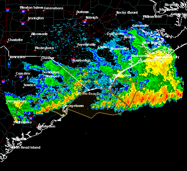 Radar Image for Severe Thunderstorms near Myrtle Beach, SC at 7/9/2016 2:03 AM EDT