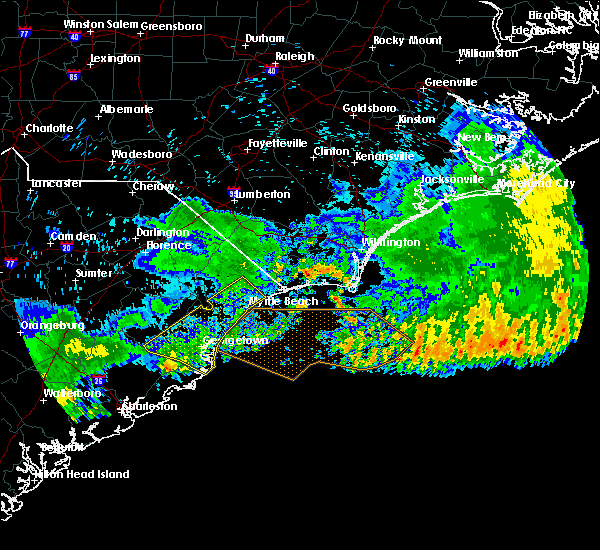 Radar Image for Severe Thunderstorms near Myrtle Beach, SC at 7/9/2016 2:28 AM EDT