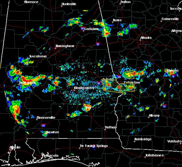 Radar Image for Severe Thunderstorms near Columbus, GA at 7/9/2016 2:34 PM EDT