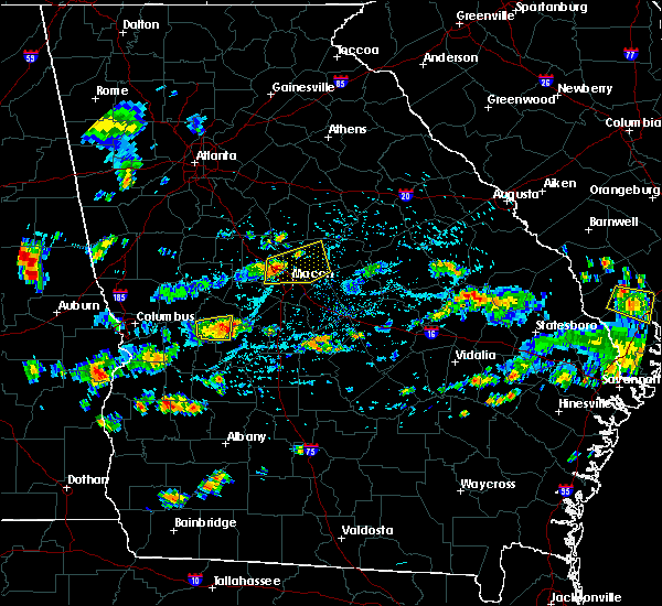Radar Image for Severe Thunderstorms near Macon, GA at 7/9/2016 3:50 PM EDT